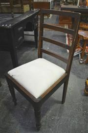 Sale 8099 - Lot 868 - Set of 4 Ladder Back Dining Chairs