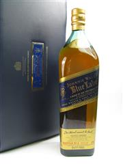 Sale 8290 - Lot 477 - 1x Johnnie Walker Blue Label Blended Scotch Whisky - 1750ml bottle in leather presentation case