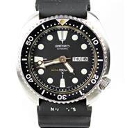 Sale 8402W - Lot 90 - VINTAGE SEIKO AUTOMATIC DIVERS WATCH; ref; 6309 - 7040 with black dial, luminous markers, centre seconds, day date, screw down crown...