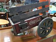 Sale 8566 - Lot 1152 - Coca~Cola Vintage Small Rustic Drinks Cart