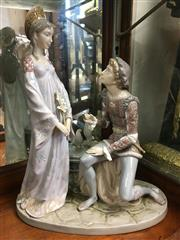 Sale 8730B - Lot 69 - Lladro Figural Group of a Man Courting a Woman H: 35cm