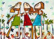 Sale 8863A - Lot 5041 - Janine Daddo - Forever Friends 77 x 108cm