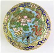 Sale 8926A - Lot 651 - Cloisonne Chinese Ink Box