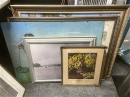 Sale 9106 - Lot 2097 - Collection of Various Pictures incl. Prints, Paintings, of Landscapes, Harbour Scenes, etc, Various Sizes