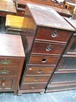 Sale 7919A - Lot 1704 - Indian Hardwood Chest of 6 Drawers in 2 Sections