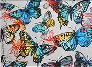 Sale 8350E - Lot 44 - David Bromley (1960 - ) - Butterflies 77 x 104cm (frame size 84 x 111cm)