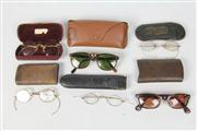 Sale 8448 - Lot 82 - Early Spectacles with Vintage Ray Bans