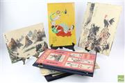 Sale 8529 - Lot 66 - Folios Containing Chinese Works Together With A Tile