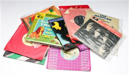 Sale 9144 - Lot 169 - A set of 12 44 records incl the Beatles