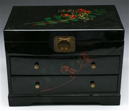 Sale 9144 - Lot 122 - A Japanese lacquered jewellery box of large size H26cm L36cm,