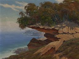 Sale 9170 - Lot 578 - GREG TURNER (1938 - 1992) Northern Beaches Landscape, Sydney oil on canvas 44.5 x 59.5 cm (frame: 66 x 86 x 4 cm) signed lower right