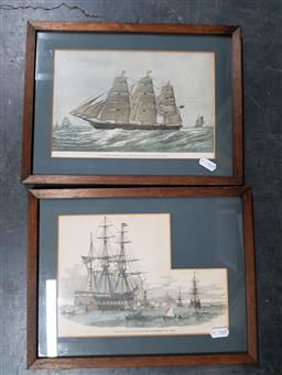 Sale 9155 - Lot 2084 - A selection of mostly maritime engravings and colonial Australia -