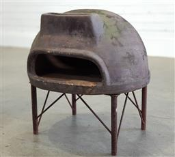 Sale 9174 - Lot 1451 - Terracotta fire pit on stand (h53 x d58cm)