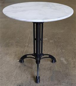 Sale 9188 - Lot 1336 - White Marble Top Table (70 x 75cm)