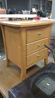 Sale 7944A - Lot 1036 - Bedside Cabinet with 3 Drawers