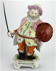 Sale 8130 - Lot 30 - Derby 18th Century Derby Figure of James Quinn in the Role of Falstaff