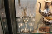 Sale 8276 - Lot 97 - Orrefors Crystal Set of  5 Wine Glasses With Another