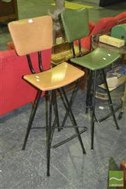 Sale 8287 - Lot 1011 - Pair of Meadmore Barstools