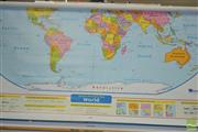Sale 8346 - Lot 2147 - Wall Mounted American Educational Maps of North America & The World