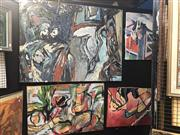 Sale 8850 - Lot 2033 - Group of (4) Abstract Paintings by David Whitworth -