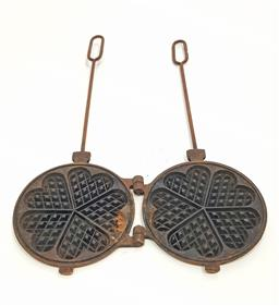 Sale 9126 - Lot 1184 - Vintage French waffle mould