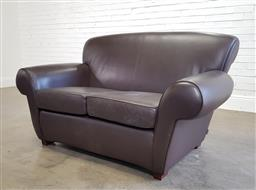 Sale 9174 - Lot 1369A - Moran leather two seater lounge (h87 x w160 x d85cm)