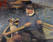 Sale 8000 - Lot 345 - Albert Sherman (1882 - 1971) - The Old Salty and His Dog oil on canvas