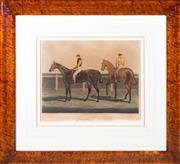 Sale 8346A - Lot 39 - After the original, John Frederick Herring, Engraved by RG Reeve - Rowton, The Winner of the Great St Leger Stakes, Doncaster, 1829...