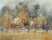 Sale 8475 - Lot 591 - Patrick Carroll (1949 - ) - Autumn Sun Shower, Mittagong 34 x 44.5cm