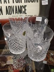 Sale 8563T - Lot 2500 - Set of Four Waterford Crystal Glasses