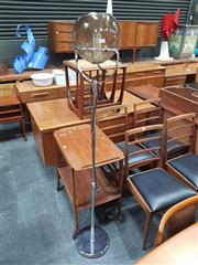 Sale 8839 - Lot 1030 - Italian Floor Lamp with Hand Blown Glass Shade