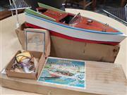 Sale 8872 - Lot 1090 - Vintage Ito Japanese Wooden Model Boat in Original Box (never used)