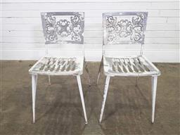 Sale 9188 - Lot 1799 - Pair of vintage alloy outdoor chairs (h78 x w38 x d52cm)