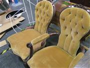 Sale 7972A - Lot 1055 - Button Back G/Father & G/Mother Chairs