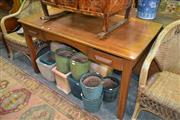 Sale 8105 - Lot 1071 - Timber Kneehole Desk w 2 Drawers