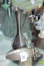 Sale 8256 - Lot 38 - Sterling Silver Urn & a Danish Silver Jug (Weight - 122g)