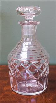 Sale 8270 - Lot 97 - A Victorian hand cut lead crystal decanter, C: 1890's, H 22cm