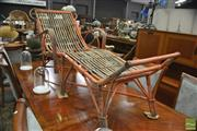 Sale 8398 - Lot 1017 - Cane Lounge Chair