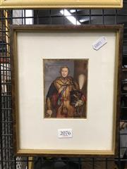 Sale 8752 - Lot 2076 - Framed Antique George Baxter Print Of His Royal Highness Prince Albert in the Uniform of Hussars, 11th Regiment