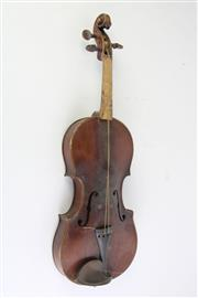 Sale 8783 - Lot 47 - A Violin in Case (Damaged)