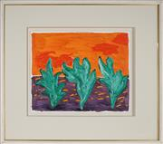 Sale 8907 - Lot 505 - Andrew Southall (1947 - ) - Desert Shrubs 43.5 x 52 cm
