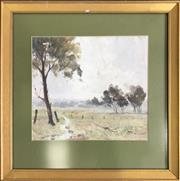 Sale 8964 - Lot 2022 - Les Turnball Country Morning oil on board, 51 x 51cm (frame)