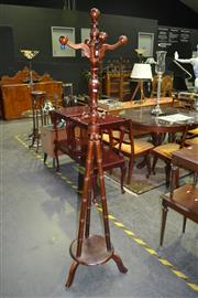 Sale 8105 - Lot 1057 - Coat Rack w Turned Supports