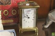 Sale 8283 - Lot 19 - French Brass Carriage Clock