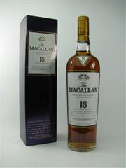 Sale 8329 - Lot 514 - 1x 1997 The Macallan Distillers 18YO Sherry Oak Cask Single Highland Malt Scotch Whisky - 43% ABV, 700ml in box