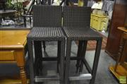 Sale 8341 - Lot 1046 - Pair of Modern Barstools
