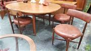 Sale 8395 - Lot 1040 - G-Plan Table & Set of Six Chairs