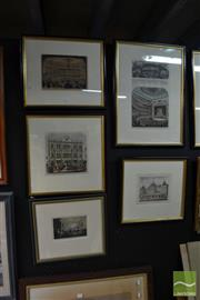 Sale 8487 - Lot 2022 - 6 Engravings of Theatres of Melbourne incl. 2 of the front page of The Illustrated Australian News