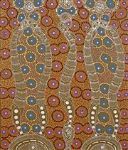 Sale 8558 - Lot 584 - Colleen Wallace - Dreamtime Sisters 68 x 56cm (stretched & ready to hang)