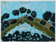 Sale 8938 - Lot 529 - Ian Abdulla (1947 - 2011) - Wild Life Along the River Bank, 1997 57 x 75.5 cm